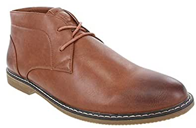 London Fog Mens Blackburn Chukka Boot Tan 8.5 M US