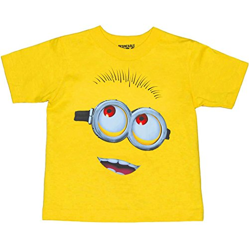 Animation Shops Minion Face Toddler T-Shirt-3T Yellow ()