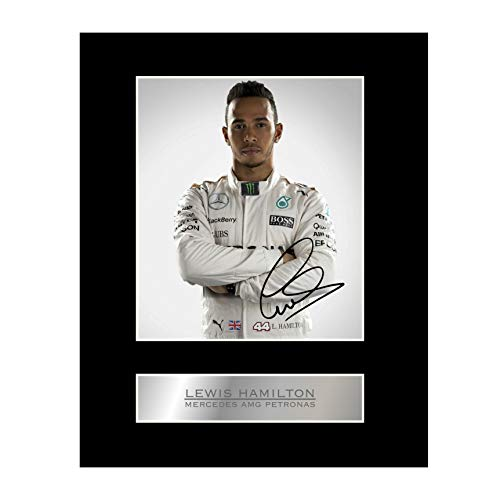 iconic pics Lewis Hamilton Signed Mounted Photo Display Mercedes