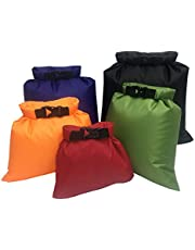 Waterproof Dry Bag Beach Storage Bag Camping Fishing Roll Top Dry Compression Sack for Rafting Boating Hiking 5Pack