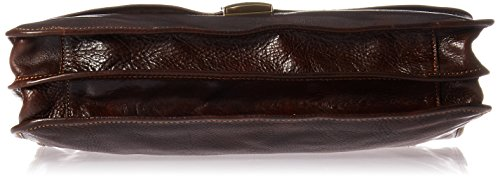 Luggage Depot USA, LLC Men's Alberto Bellucci Italian Leather Double Gusset D. Brn Laptop Messenger Bag, Dark Brown, One Size by Luggage Depot USA, LLC (Image #3)