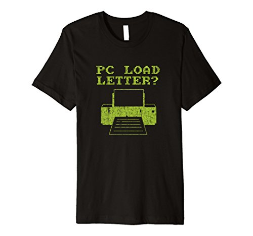 Mens PC Load Letter Paper Jam Funny Tee Shirt