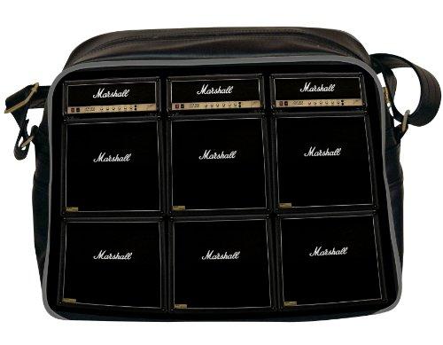 Marshall Rock Amps (Marshall Men's Wall Of Amps Messenger Bag One Size Black)