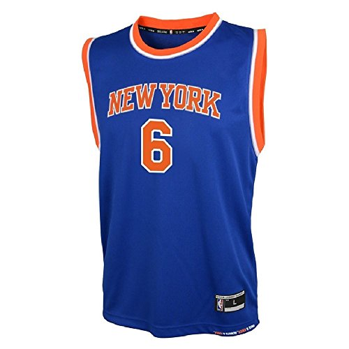 - OuterStuff Kristaps Porzingis New York Knicks NBA Youth Blue Road Replica Jersey (Youth Small 8)