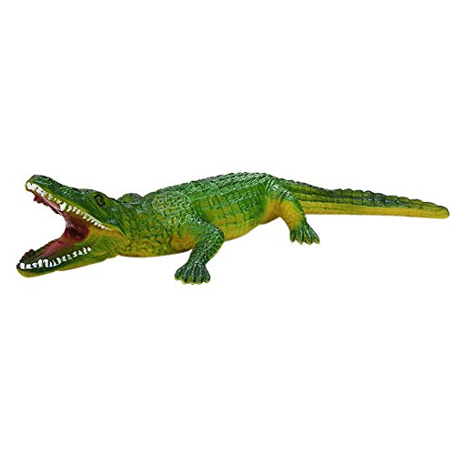 BESTLEE Green Alligator Toy Figures For Kids Crocodile Toy Action Figures 16.5 x 2 x 4.3 inches -