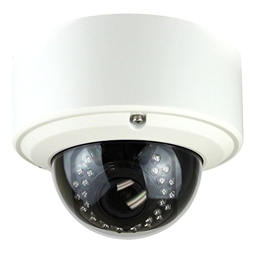 GW Security 5 Megapixel 2592 x 1920 Pixel H.265 HD 1920P Outdoor Indoor PoE Power Over Ethernet 1080P Security IP Camera with 2.8-12mm Varifocal Zoom Len