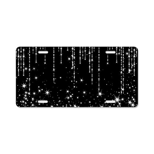 CafePress - Star Shower - Aluminum License Plate, Front License Plate, Vanity Tag