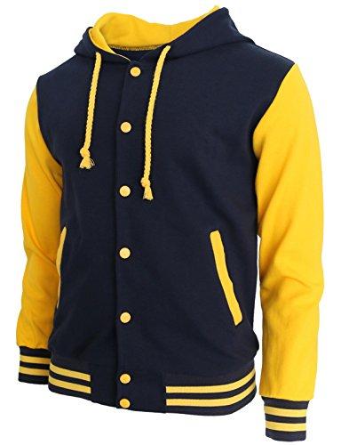 BCPOLO Hoodie Baseball Jacket Varsity Baseball Jacket Cotton