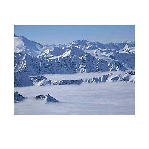 Farmhouse Decor Photography Background,Fantasy Dream Land Over Austrian Alps Summit Climate Skiing Snowfall Fir Theme Backdrop for Studio,20x10ft