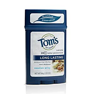 Tom's of Maine Men's Long Lasting Deodorant, Mountain Spring, 2 Count