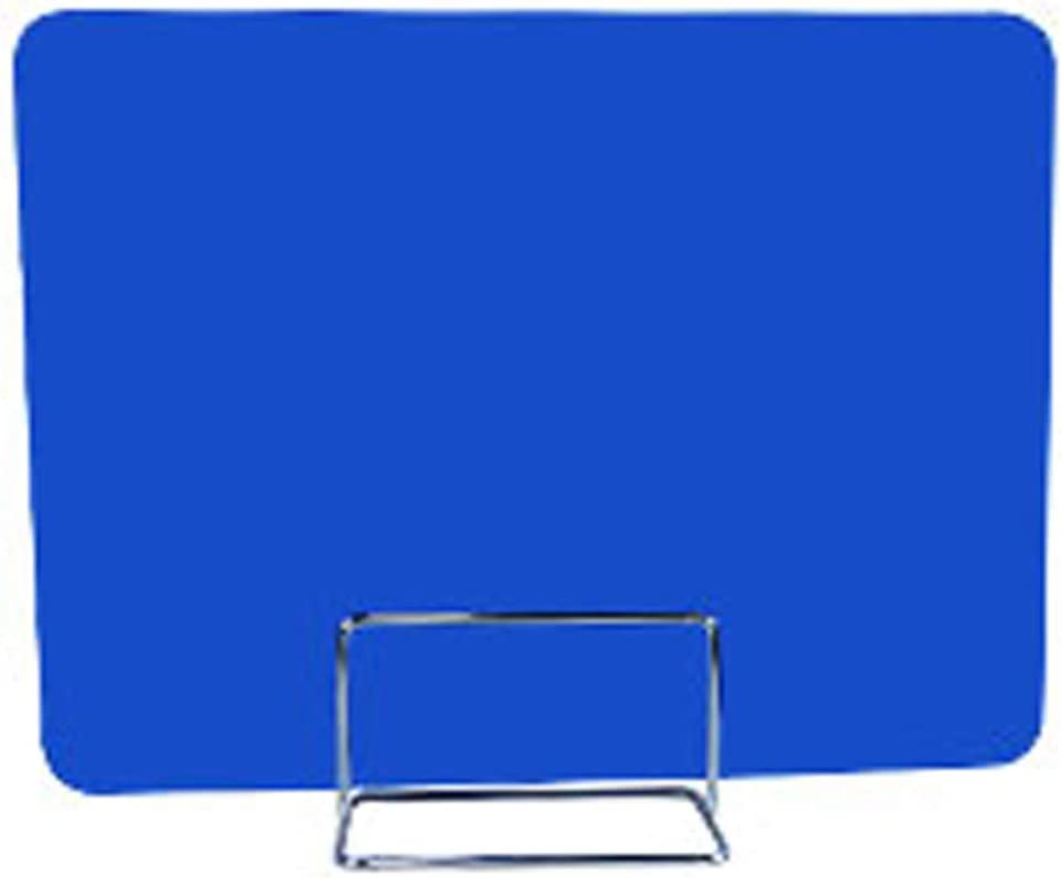 """Pearlead 16""""x 12"""" Desk Divider Office Partition Privacy Desk Panel with 1pcs Clip for Student Call Centers Offices Braries Classrooms Library Acrylic Privacy Board(Blue)"""