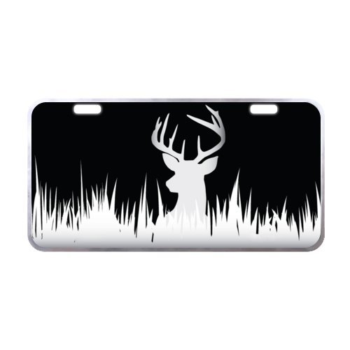 Personalized Deer Silhouette Durable Aluminum Car License Plate of Car 11.8