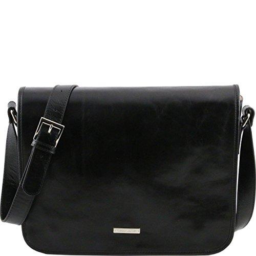Tuscany Leather - Sac porté épaule cuir - Noir