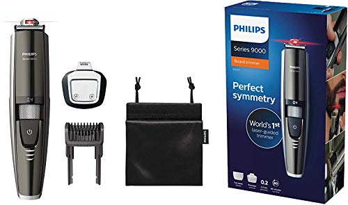 Philips Beard Trimmer Series 9000 with Laser Guide for Accurate Trim BT9297 (Phillips Beard Trimmer 9000)