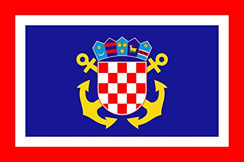 Jack of Croatia Flag | Landscape Flag | 0.06m² | 0.65sqft | 20x30cm | 8x12in Car Flag Poles ()