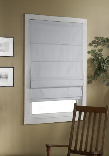 Green Mountain Vista Thermal Blackout Cordless Roman Shade, 40 by 63-Inch, White