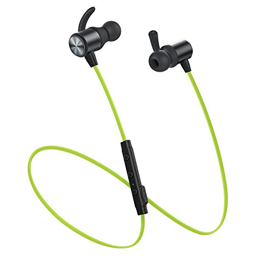 Bluetooth Headphones, Wireless Headphones, VISMERA Lightweight Bluetooth Earbuds Sweatproof Stereo Wireless Earbuds Noise Cancelling Wireless Earphones Fit for Gym Sports with Built-in Mic