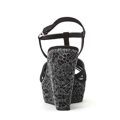 PRENDIMI by Scarpe&Scarpe - Plataformas con macramé Negro
