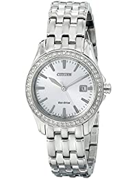 Womens Eco-Drive Watch with Crystal Accents, EW1901-58A