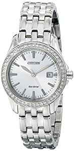 Citizen Women's Eco-Drive Watch with Crystal Accents, EW1901-58A