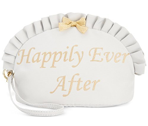 Blue by Betsey Johnson Womens Happily Ever After Cosmetic Case Silver Small