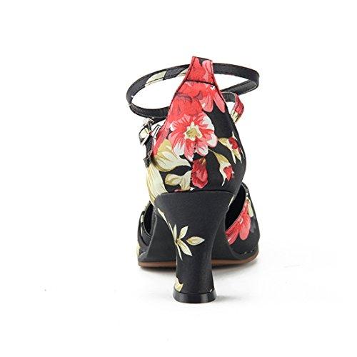 Miyoopark MiyooparkUK-HW180313 - Zapatillas de Danza Para Mujer Black-7cm Heel