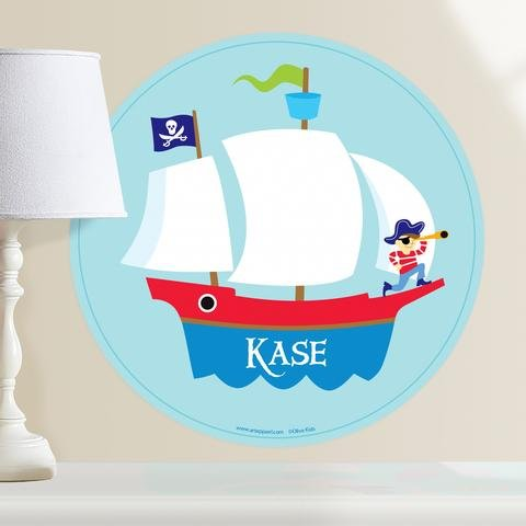Olive Kids Pirates! Ship Personalized WallDotz