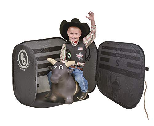 Big Country Toys Lil Bucker & PBR Chute Combo - Kids Hopper Toy - Bull Riding Toy - Rodeo Toys - PBR Bouncy Bull - PBR Bucking Chute