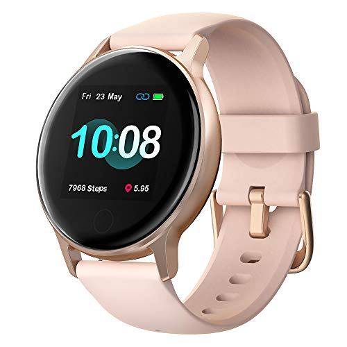 """UMIDIGI Smart Watch, Uwatch 2S Fitness Tracker with Personalized Watch Faces, Activity Tracker with 1.3"""" Touch Screen, 5ATM Waterproof Smartwatch with Heart Rate Monitor, for Women and Men"""