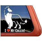 I Love My Collie! Rough Collie Dog Vinyl Window Decal Adhesive Sticker 5