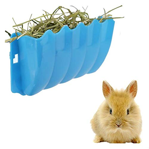 zswell Rabbit Hanging Feeder Grass Container Wall-Mounted Hay Manger Hay Rack Random ()