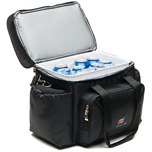 MOJECTO Extra Large Cooler Bag with Leakproof Hard Liner. Heavy Duty 1680D Fabric, Thick Foam Insulation, Large Pockets, Zipper and Metal Clips. Not a Small Lunch Bag or Cooler Box. by MOJECTO