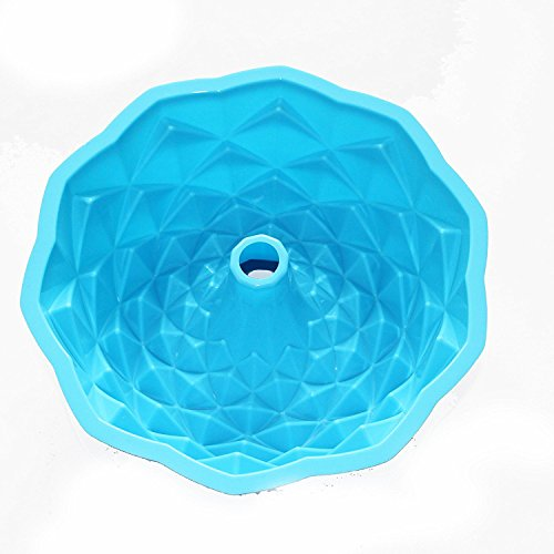 Jessicd&Recebeersh 11 inchBread Pie Flan Tart Birthday Party Cake Silicone Mold Pan Bakeware
