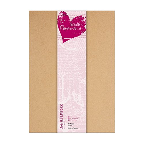 Papermania Kraftpapier, DIN A4, 280g, 25 Stück
