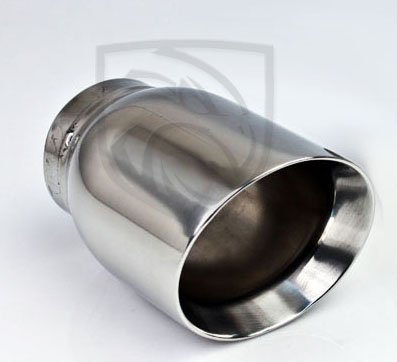 "5.5/"" Long PAIR 3/"" Inlet Stainless Round Double Wall Exhaust Tips 4/"" Outlet"