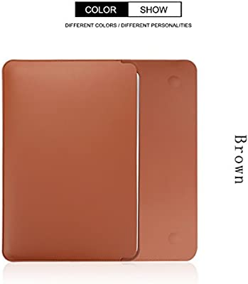 LENTION Slim Split Leather Sleeve Laptop Case Bag for MacBook Air//Pro 13 Retina