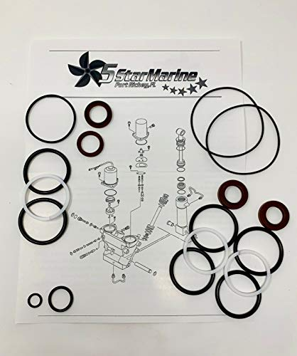 Five Star Marine Yamaha Trim TILT Seal Repair KIT F200 F225 F250 F300 V6 Super 1997+ (V6 Repair)