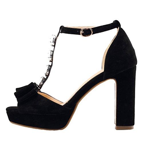 YFF Frauen Latin Dance Schuhe/Ballroom Tango 5 cm / 7 cm 11 cm Heels Corlors, 7 blau, 8.