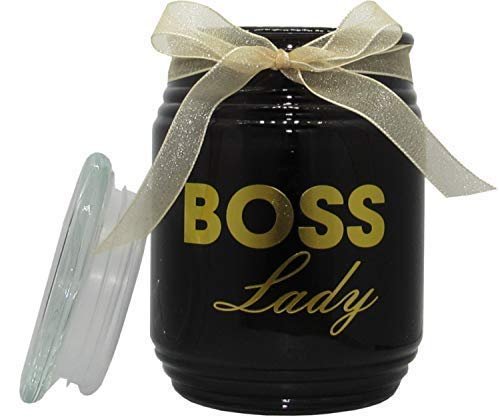 - T&H Funny Gift Novelty Candles 100 Hour Burn 15 Ounce Lemongrass + Persian Lime for Mom, Wife, Grandma, Sister, or Lady Boss Big Candle Long Lasting (Boss Lady)