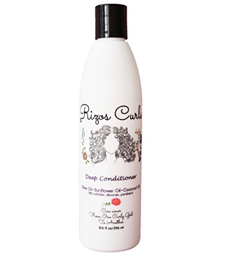 - Rizos Curls Deep Conditioner for Curly Hair. Promotes Growth and Reduces Frizz, Breakage and Split Ends. With Olive Oil Coconut Oil and Sunflower Oil to Nourish and Moisturize. Hecho Por Una Latina