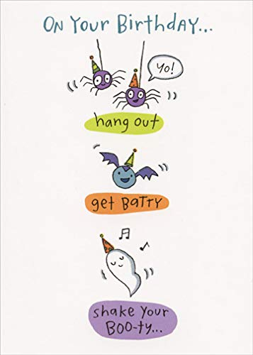 Amazon Hang Out Spiders Funny Halloween Birthday Card