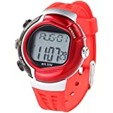 Mandy Waterproof Fitness Heart Rate Monitor Sport Watch Calories Counter Red