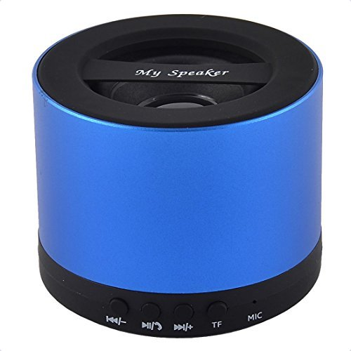 Amazon.com: eDealMax Manos libres portátil inalámbrico recargable Transmisión de Audio Bluetooth Altavoz Azul: Home Audio & Theater