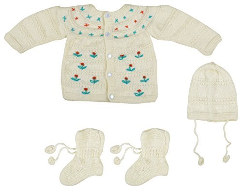9de560de9 Kuchipoo Baby Boy and Girl Hand Knitted Sweater 3 Piece Gift Set ...