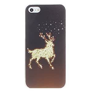 Christmas David's Deer Pattern PC Hard Case for iPhone 5/5S