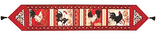 KensingtonRow Home Collection Table Runners - French Country Rooster Tapestry Table Runner - 13
