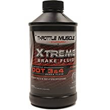 Throttle Muscle TM7877 - Xtreme Synthetic Dot 3 / Dot 4 On and Off Road Extreme Race Brake Fluid 12 Oz