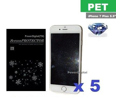 Pet Material (PowerDigital(TM) Diamond Sparkling Glitter Screen Protector for iPhone 8 Plus/7 Plus 5.5