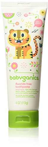 (Babyganics Fluoride Free Toothpaste Bundle - 2 Items: Two 4 Oz Watermelon)