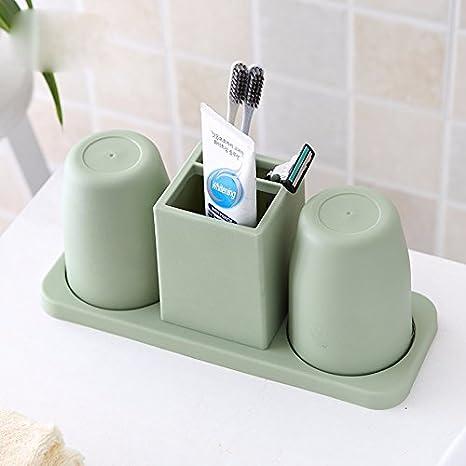 CNBBGJ Así, cepillo ah rack, material plástico, moda baño, creativos, amantes porta cepillo de dientes,verde: Amazon.es: Hogar